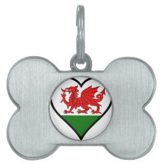 Love Wales Pet ID Tag
