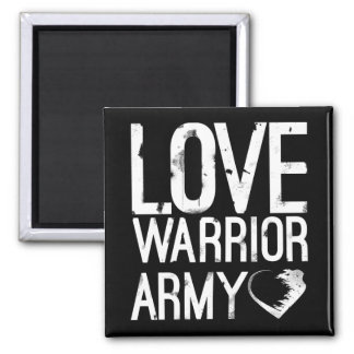 Love Warrior Army Square Magnet
