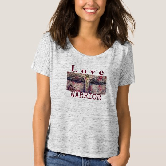 Love Warrior Buddha Art Flowy T-Shirt