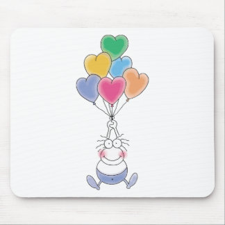 Love Watercolor Cute Mouse Pad
