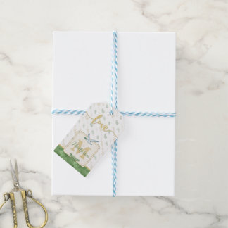 LOVE Watercolor Monogram Folded Photo Gift Tags