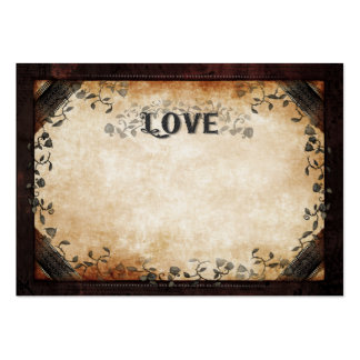 LOVE Wedding Seating Cards BLANK FRONT Names Back Large Business Card