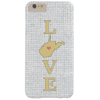 LOVE West Virginia State Map moveable heart Barely There iPhone 6 Plus Case