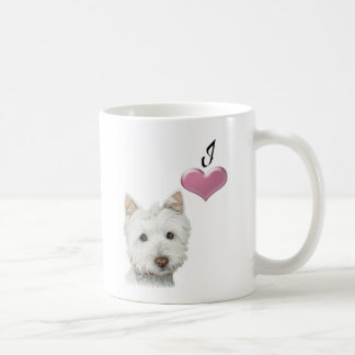 Love Westie Dog Art Mug