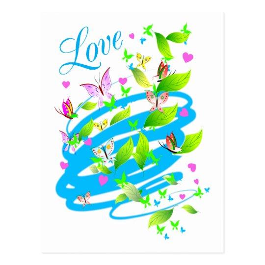 LOVE WHIRLWIND POSTCARD