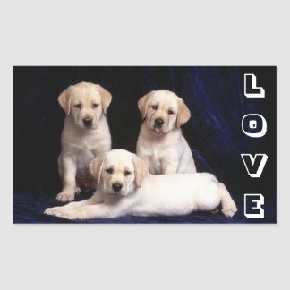 Love White Labrador Retriever Puppy Dog Stickers