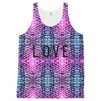 Love wiith pattern All-Over-Print tank top