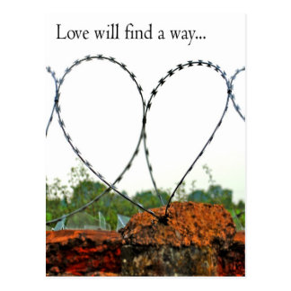 Love will find a way postcard