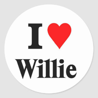 Love Willie Classic Round Sticker