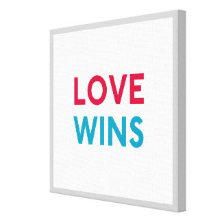 Love Wins Canvas Wrapped Print