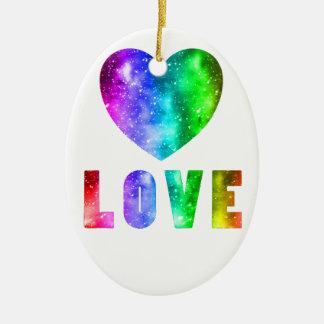Love Wins Ceramic Ornament
