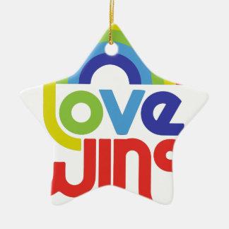 Love Wins Ceramic Star Ornament