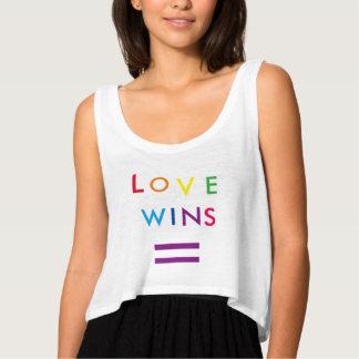 Love Wins Flowy Crop Tank Top