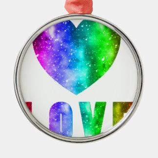 Love Wins Metal Ornament