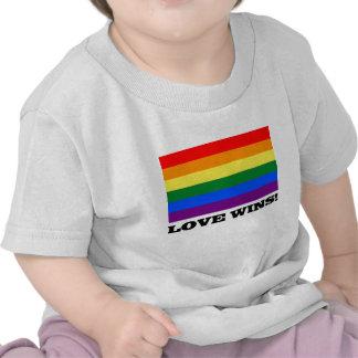 Love Wins Rainbow flag Shirts