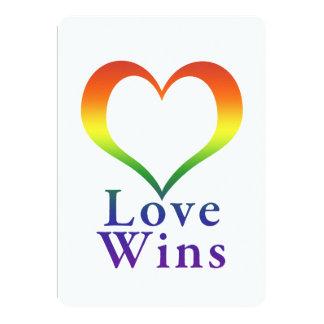 Love Wins Rainbow Heart Card