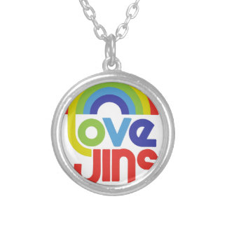 Love Wins Silver Plated Necklace
