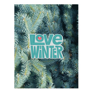 Love Winter season's greetings postcard/invite Postcard