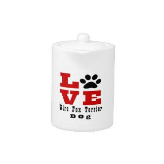 Love Wire Fox Terrier Dog Designes