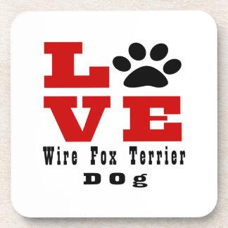 Love Wire Fox Terrier Dog Designes Drink Coaster