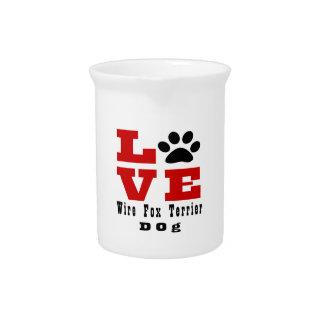Love Wire Fox Terrier Dog Designes Drink Pitcher