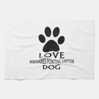 LOVE WIREHAIRED POINTING GRIFFON DOG DESIGNS KITCHEN TOWEL