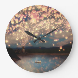 Love Wish Lanterns Wall Clocks