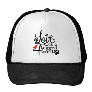 Love With 4 Legs Trucker Hat
