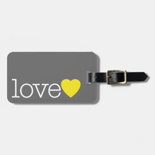 Love with a Bright Heart and Address / Phone Bag Tag