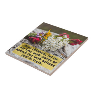 Love With Action And Truth Tile
