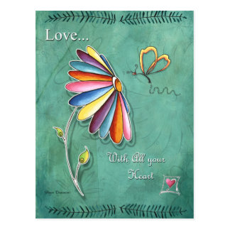 Love With all Your Heart Postcard