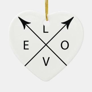 Love with Arrows Ceramic Heart Ornament