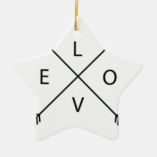 Love with Arrows Ceramic Star Ornament