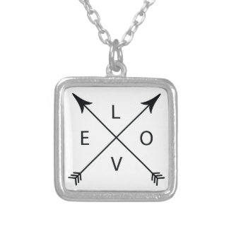 Love with Arrows Silver Plated Necklace