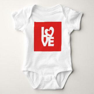 Love with Heart Baby Bodysuit