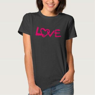 Love with heart ladies top shirt