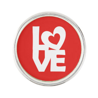 Love with Heart Lapel Pin