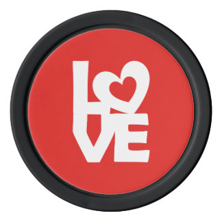 Love with Heart Poker Chips