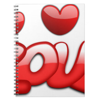 Love with hearts notebook