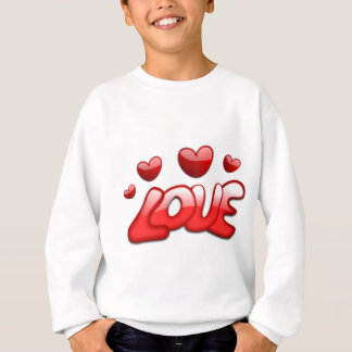 Love with hearts sweatshirt