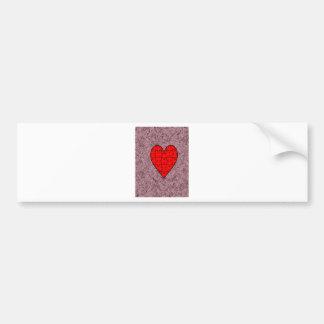 Love With Motif Batik Bumper Sticker