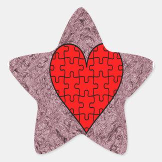 Love With Motif Batik Star Sticker