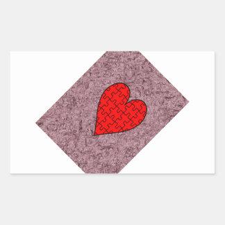 Love With Motif Batik Rectangular Sticker