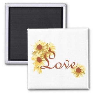 Love with Sunflowers Magnet