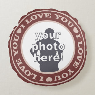 LOVE with YOUR 2 PHOTOS custom throw pillow