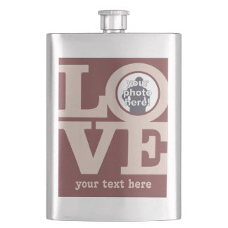 LOVE with YOUR PHOTO custom flask