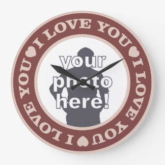 LOVE with YOUR PHOTO custom wall clock