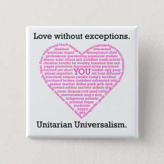 Love Without Exceptions Heart Button