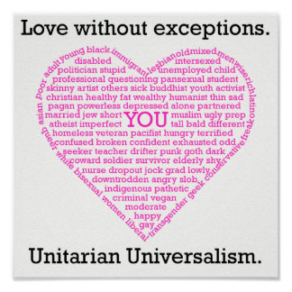 Love Without Exceptions Heart Poster