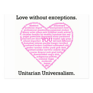 Love Without Exceptions Postcard